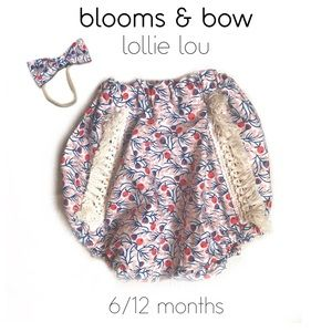 🆕 6-12 mo. Bloomers w/ Bow